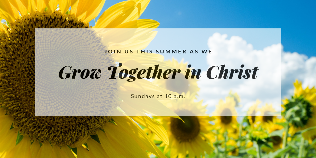 Join Appleton Community Evangelical Free Church this summer as we grow together in Christ. Sunday service is at 10 a.m.