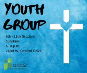Youth Group at Appleton Community EFC meets every Sunday from 6 to 8 p.m. at church