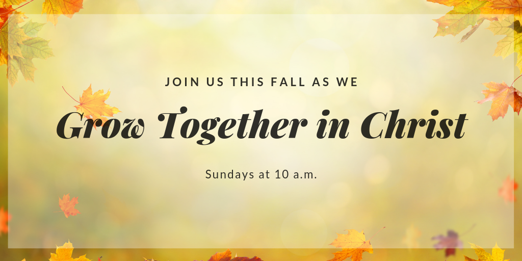 Join us this fall as we grow together in Christ at Appleton Community Evangelical Free Church